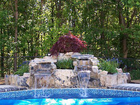 Custom Rock Waterfalls Inground Swimming Pools Pool Town